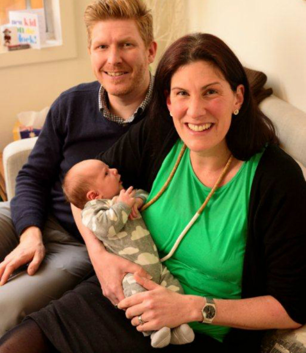 Mike and Victoria with their son Benjamin. (Supplied)