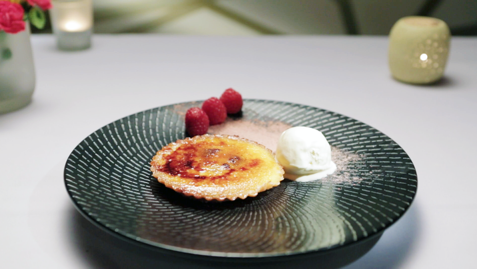 Raspberry-Creme Fraiche Tart Recipe — Dishmaps