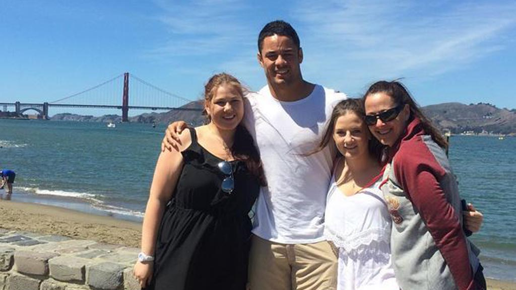 """It always works out"": Hayne uploaded this family picture to Instagram in the wake of the announcent. (Instagram)"