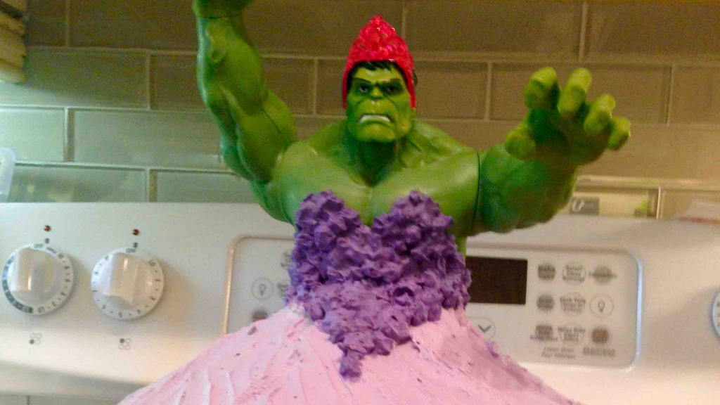 Canadian parents spark online discussion about gender roles after sharing photo of daughters' Hulk princess cake
