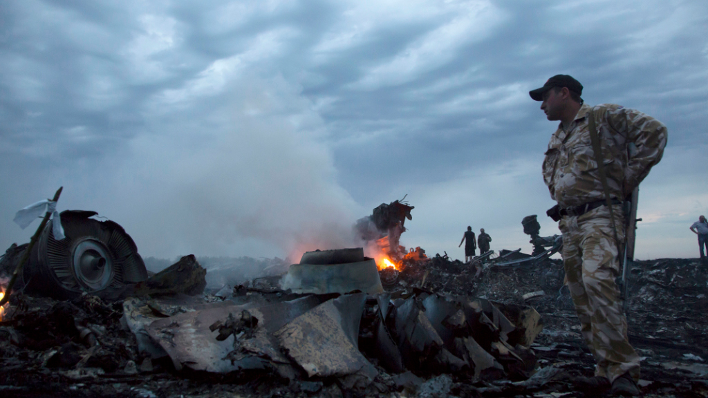 The crash site of MH17. (AAP)