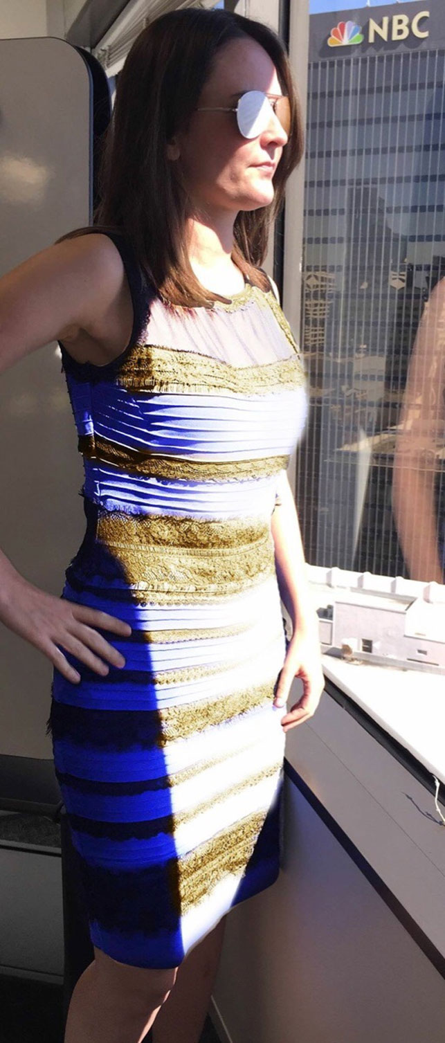 Photo finally solves the black and blue/white and gold dress debate