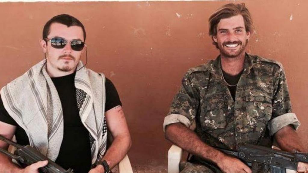 Ashley Dyball (left) fought alongside Reece Harding, who was killed in June. (Facebook)