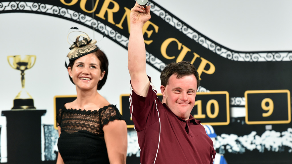 Michelle and Steven Payne at Derby Day. (AAP)