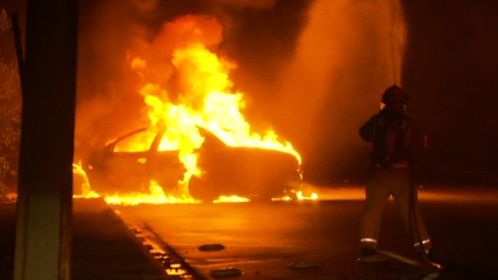 Car engulfed in flames after being set on fire in Adelaide