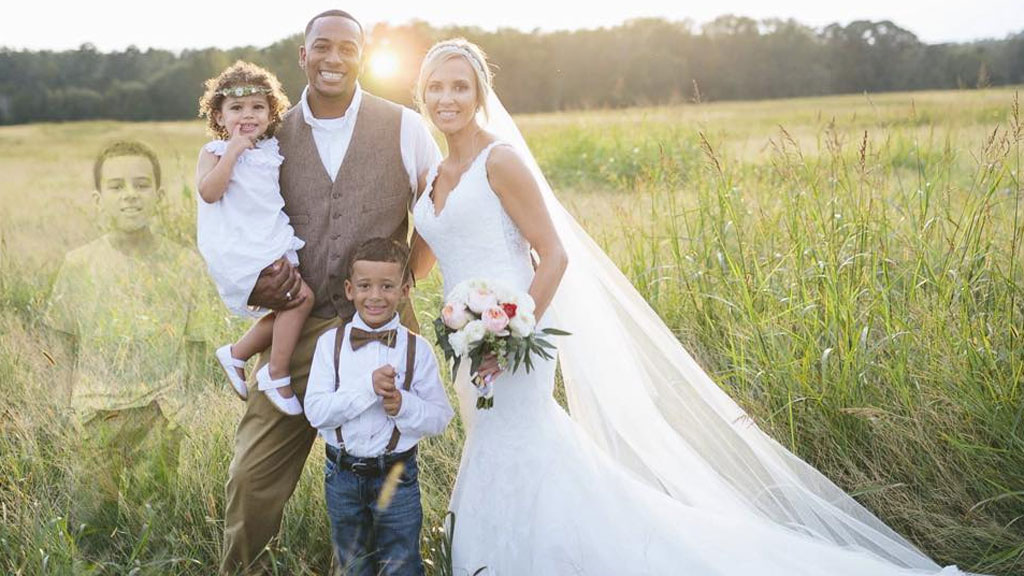 Wedding photo brings family back together again after young son's death