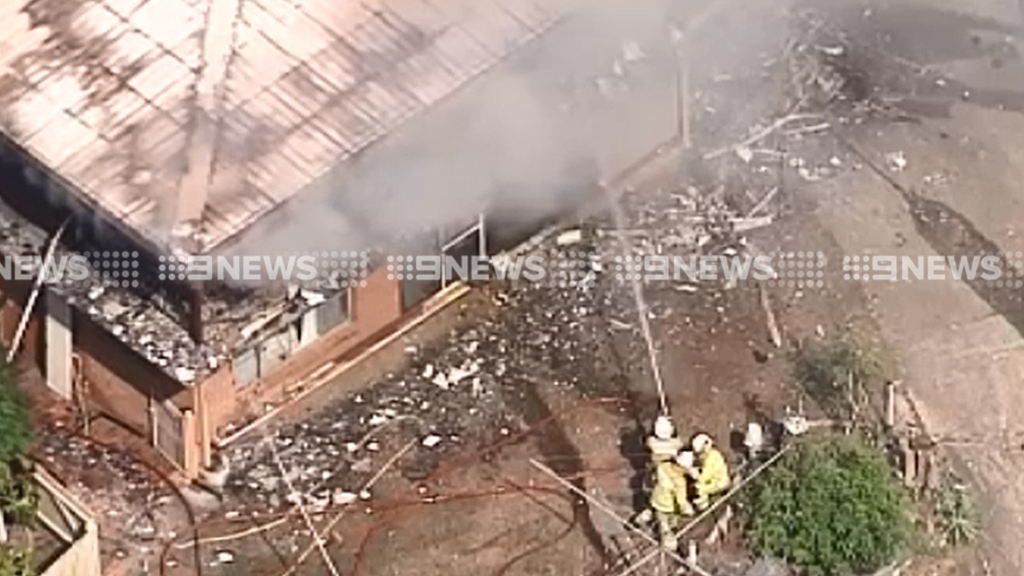 The fire at Loganholme. (9NEWS)