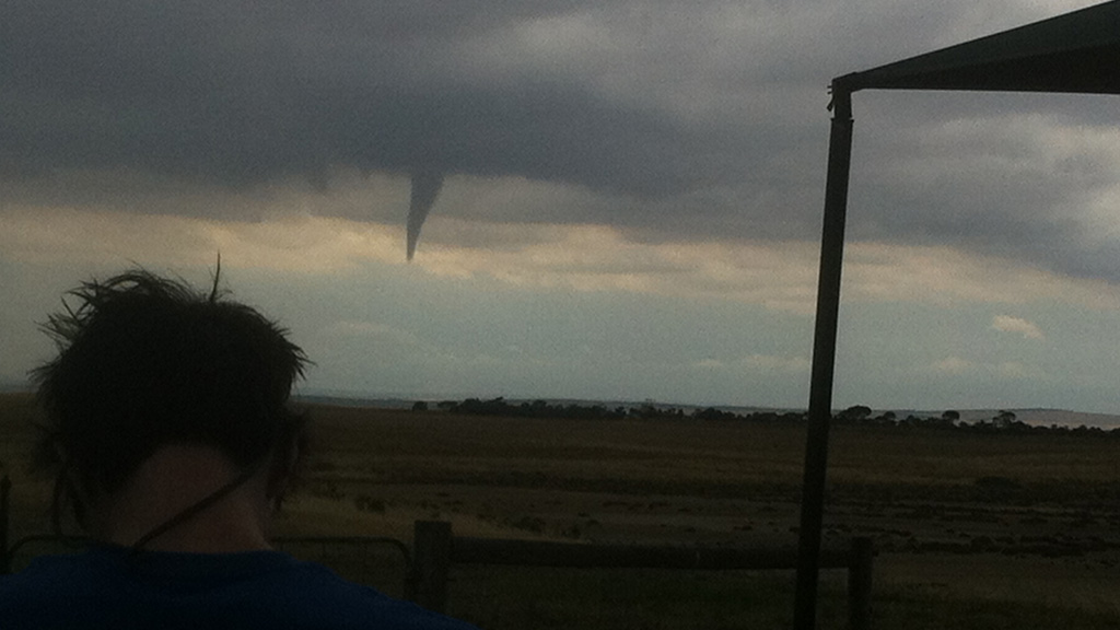 Dave Keough snapped this photo of a twister in Adelaide Hills. (Dave Keough)