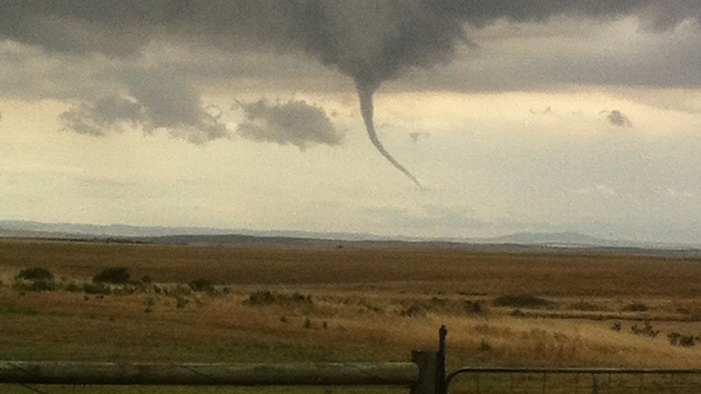 A twister over the Adelaide Hills. (Dave Keough)