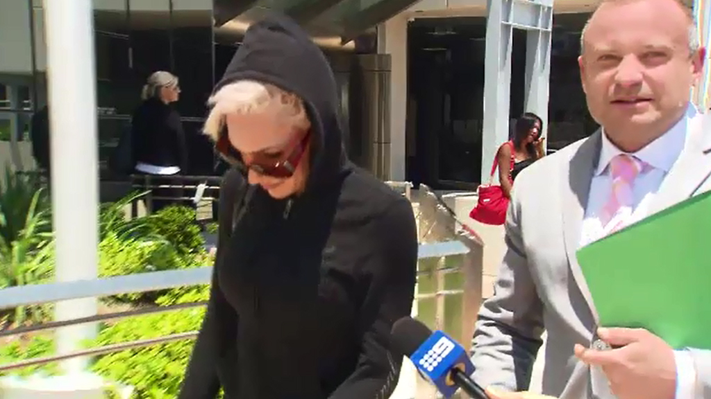 The model at court. (9NEWS)