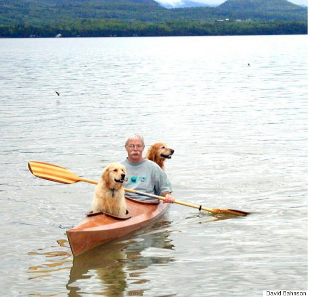 Man modifies kayak so his dogs can join him on adventures