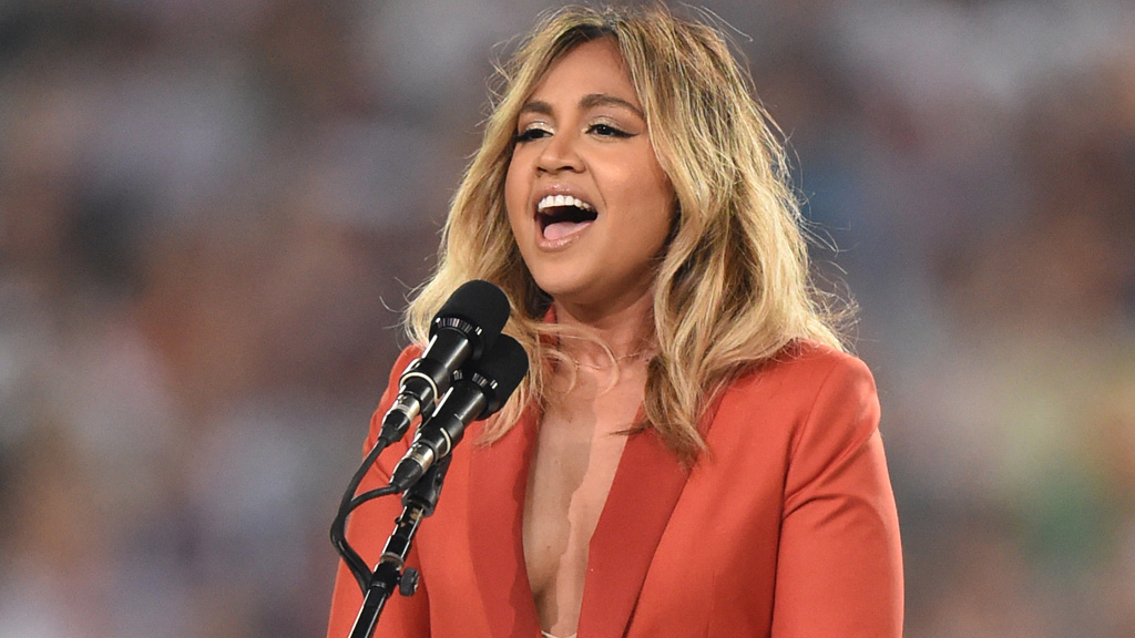 Mauboy sang the anthem at the NRL grand final last month. (AAP)