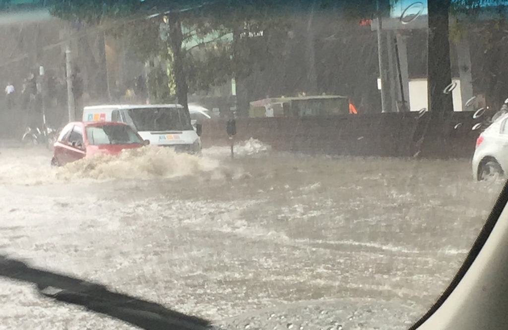 Parts of the Melbourne metro area flooded. (Supplied)