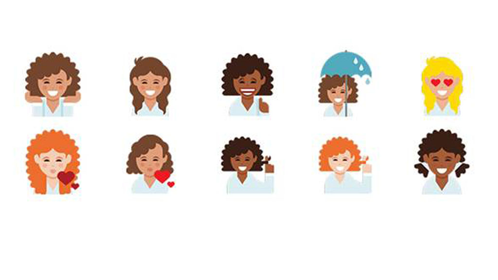 Curly-haired women represented with new emoji keyboard