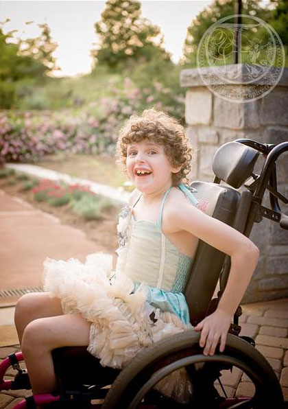 Magen Ferland, 12, has been diagnosed with cerebral palsy, autism, sensory processing disorder and nonverbal seizures. (Heather Larkin/Fairyography)