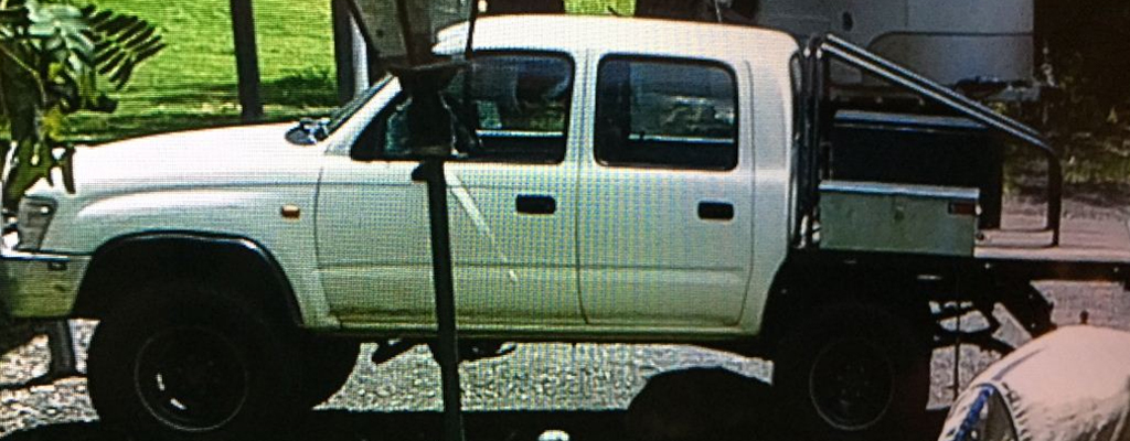 The ute has since had a large toolbox added to its tray. (Queensland Police Service)