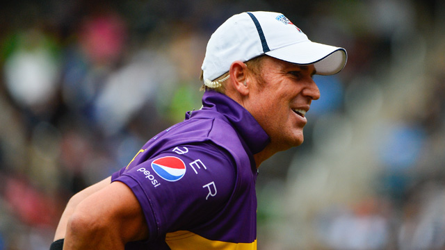 <p>Shane Warne has turned back the clock, taking three wickets in an exhibition All Stars match in New York.</p><p>Warne snared the wickets of Indians Sachin Tendulkar and VVS Laxman, and West Indian great Brian Lara during the contest the the New York Mets' stadium Citi Field. <br><br>Warne organised the three-match series with Tendulkar, with the aim of taking the game to new markets. </p><p><strong>Click through for more images from the match. </strong></p>