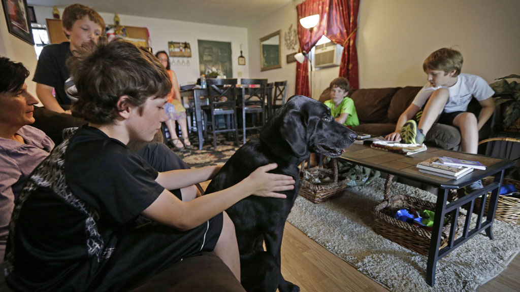 Service dog gifted to mourning family of slain US army veteran