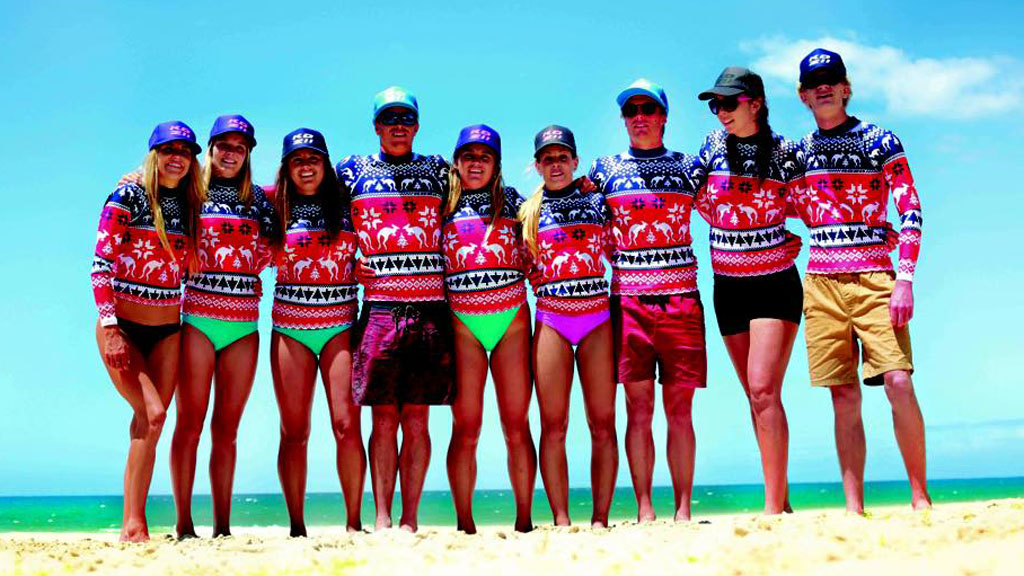 Sunsmart Aussies to hit the beach this festive season in the 'Ugly Christmas Rashie'