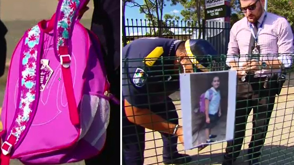 Police are searching for clues about Tiahleigh Palmer's death, including her missing backpack. (9NEWS)