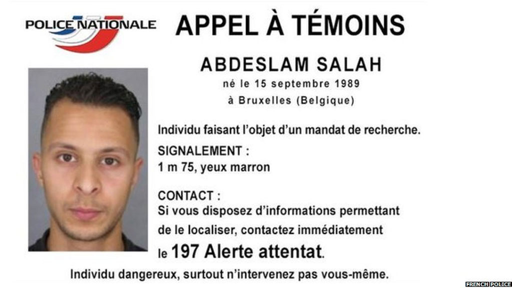 French police have issued a photo of Abdeslam Salah, the man sought in connection with the Paris attacks.