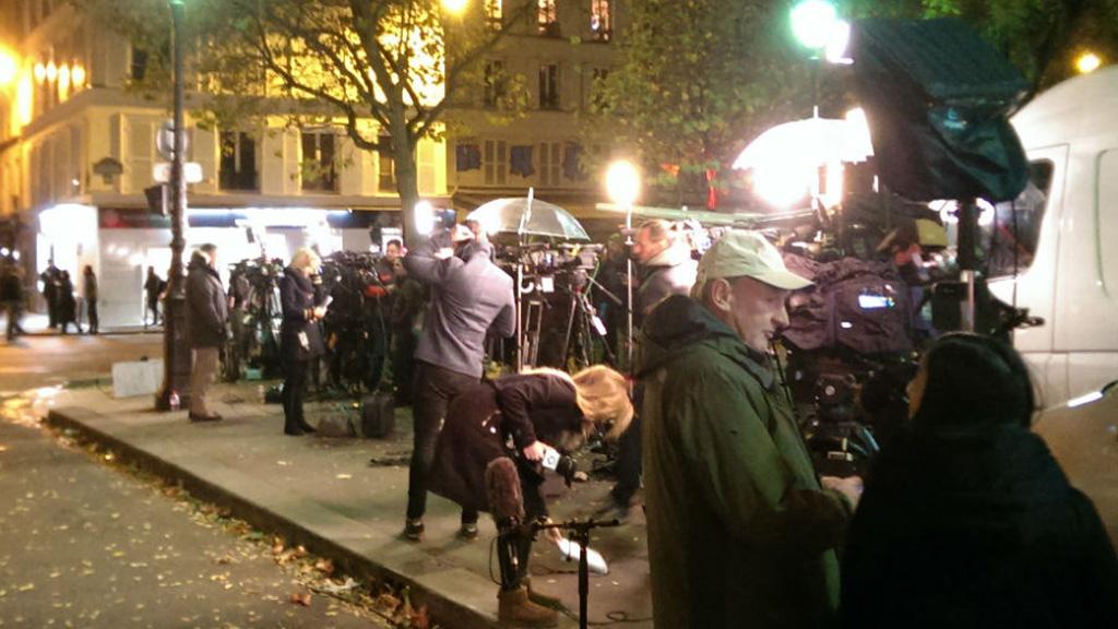 World's media line streets near Paris attack sites