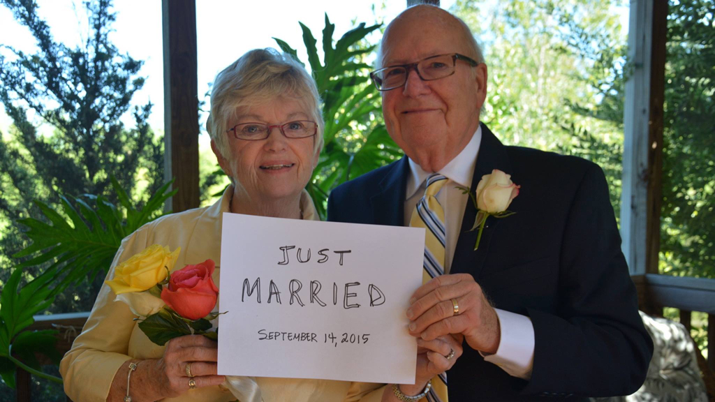 High school sweethearts marry six decades after breaking up