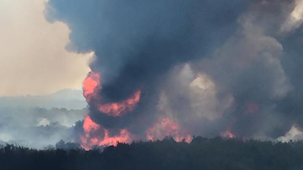 The fires were started by strikes of lightning. (Facebook: Kate Sainty)