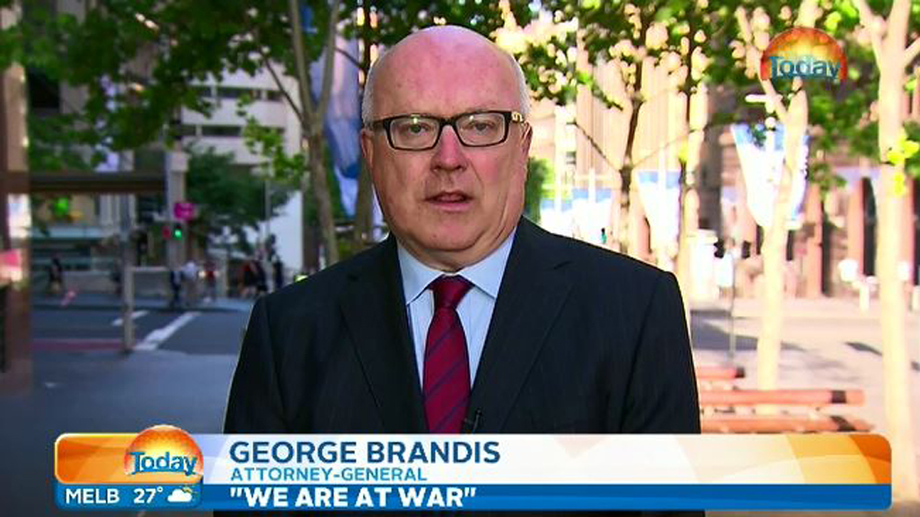 Attorney-General George Brandis says Australia is at war with ISIL