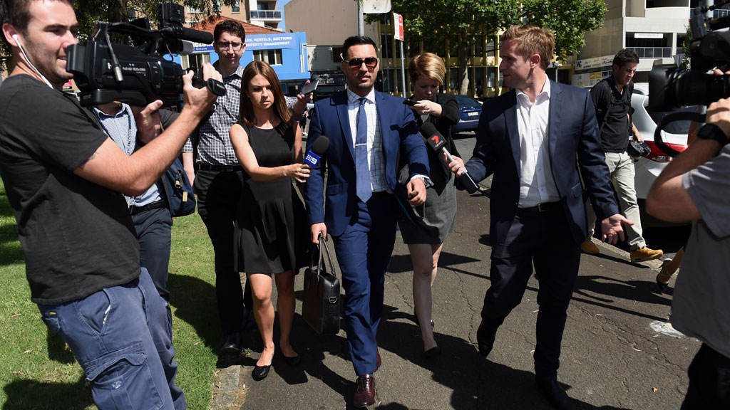 Reporters question Mr Mehajer outside court. (AAP)
