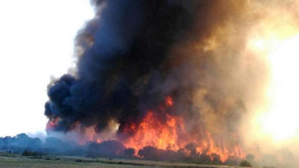 A bushfire in Esperance, WA, broke containment lines. (9NEWS)