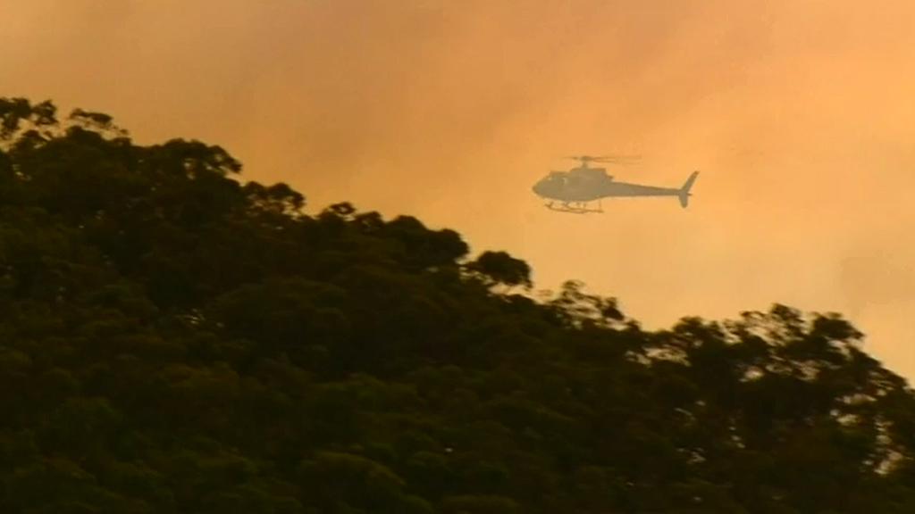 SA fire crews are also fighting bushfire. (9NEWS)