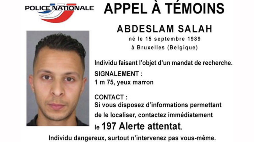 Salah Abdeslam remains on the run. (French Interior Ministry)