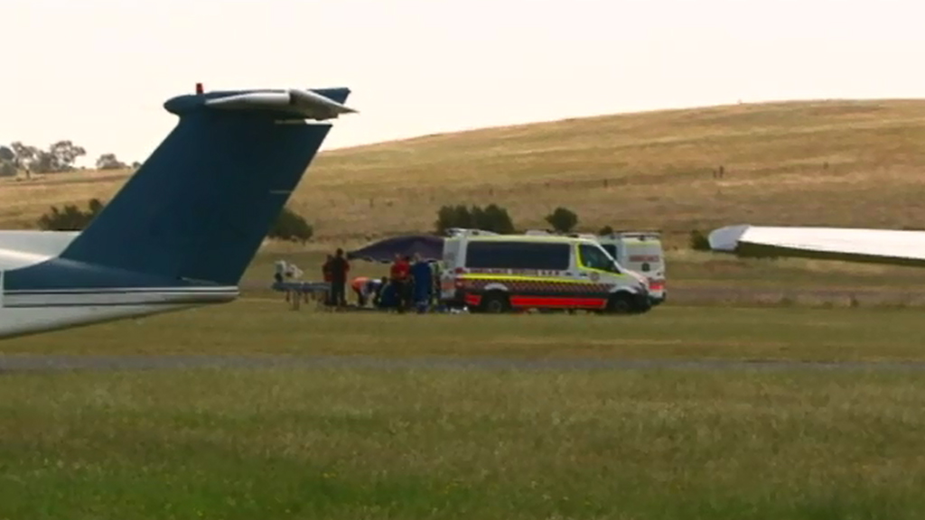 The accident happened at Goulburn Airport. (9NEWS)