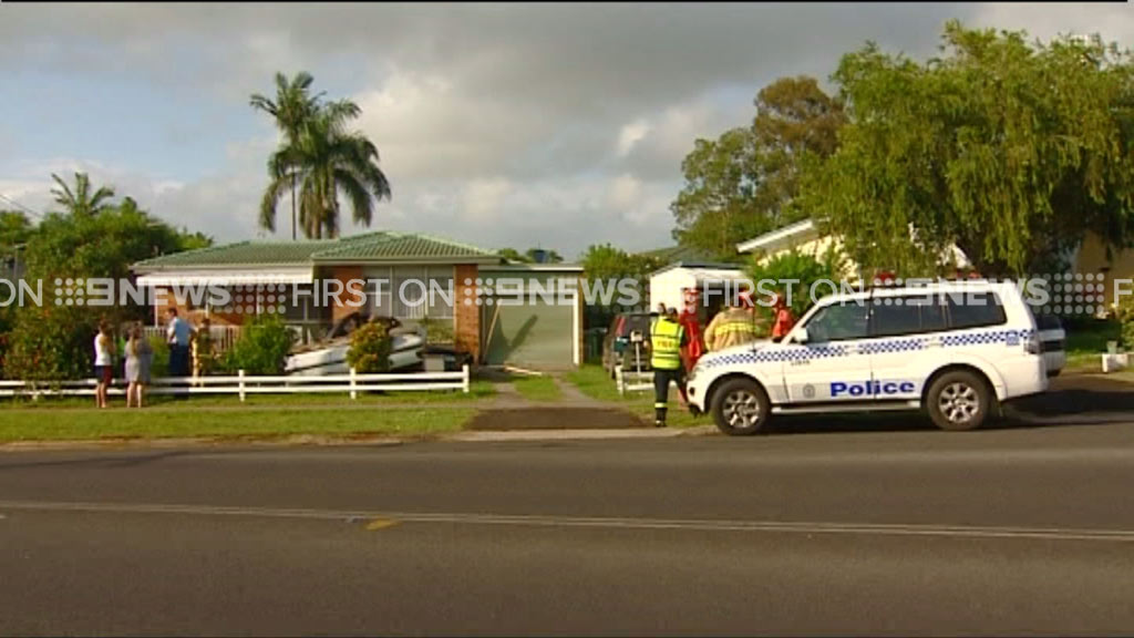 The crash caused structural damage to the home. (9News)