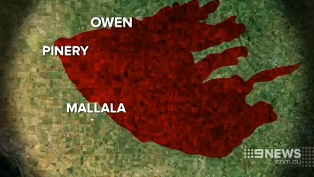 The fire has burned about 85,700 hectares. (9NEWS)