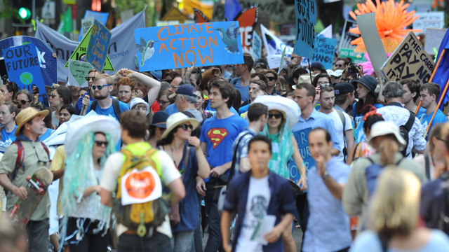 Thousands march at climate rallies across country