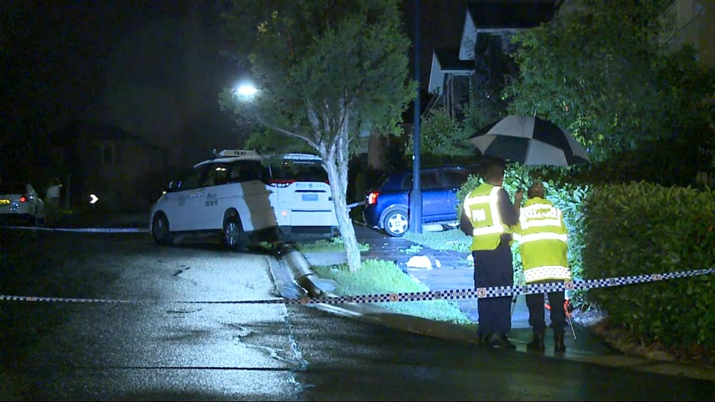 Three girls have been charged and another was seriously injured after they allegedly robbed a taxi driver in Campbelltown. (9NEWS)