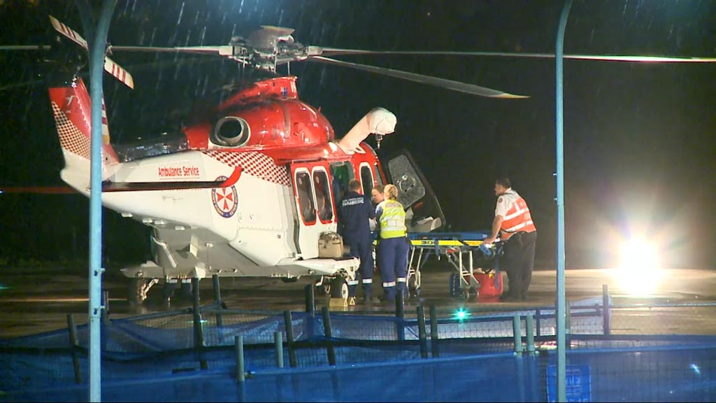 The girl was airlifted to hospital with suspected spinal injuries. (9NEWS)