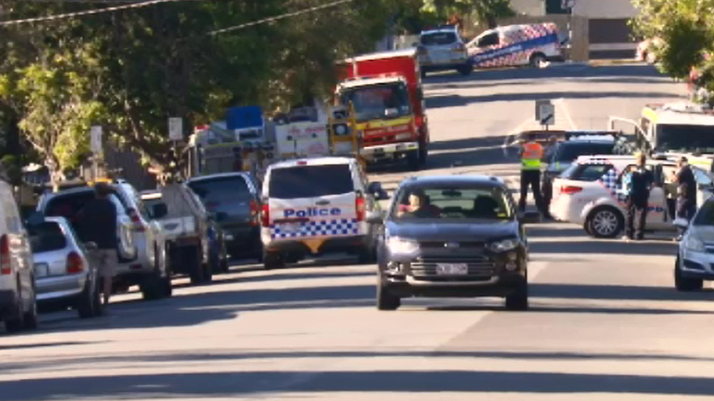 Police were called to the Woolloongabba construction site. (9NEWS)