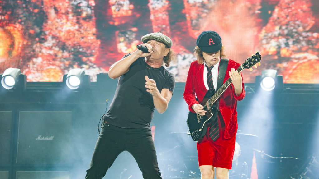 AC/DC play in Melbourne again tomorrow night. (AAP)