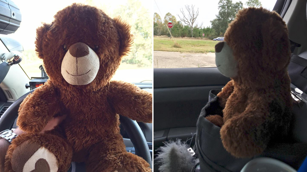 US policeman brought to tears by young girl's gift of teddy bear to keep him safe