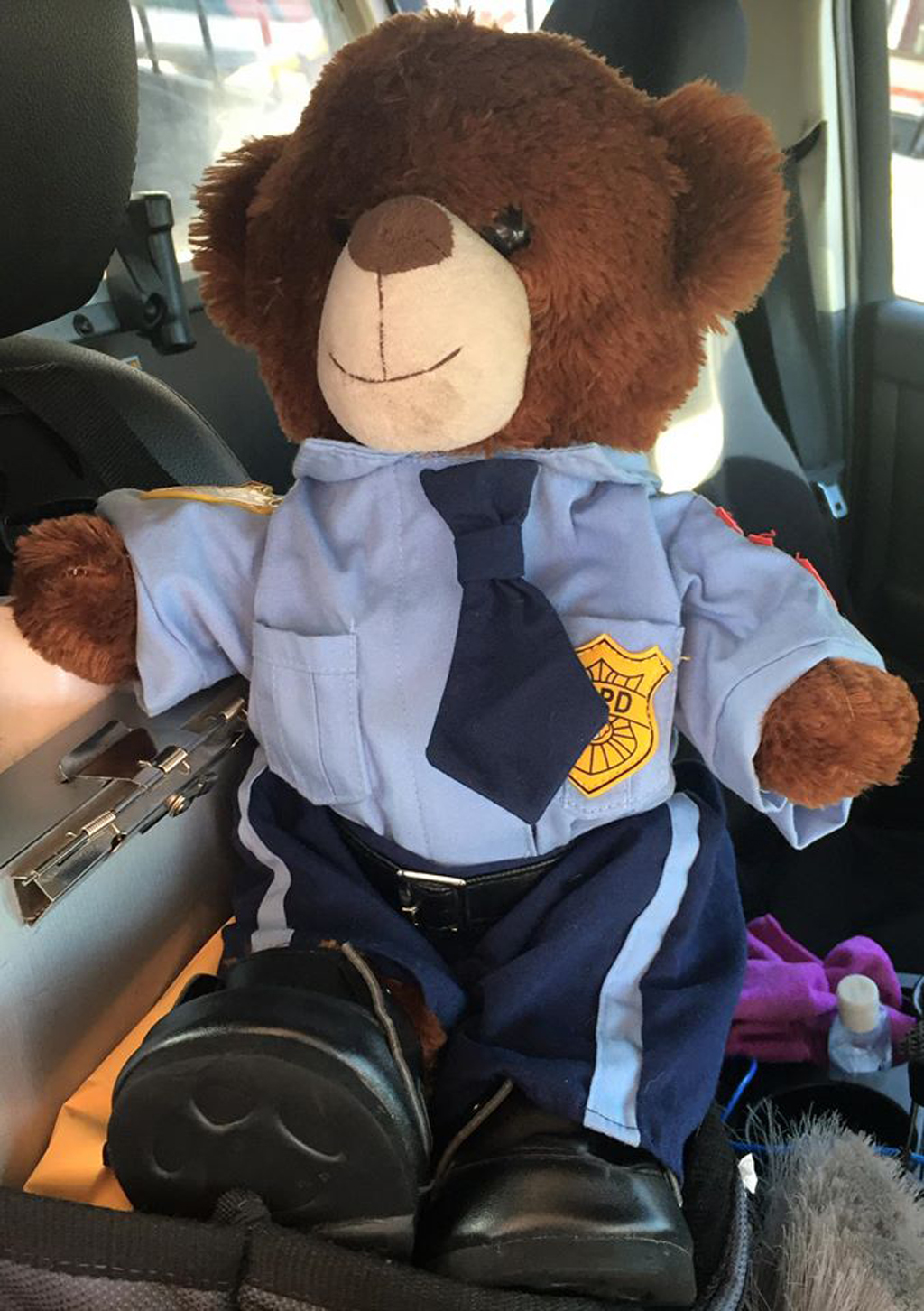 The teddy was even given his own uniform. (Facebook)
