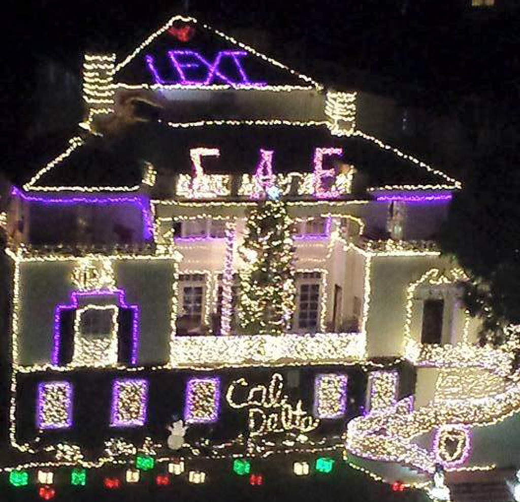 Fraternity brothers put young cancer patient's name in lights in show of support