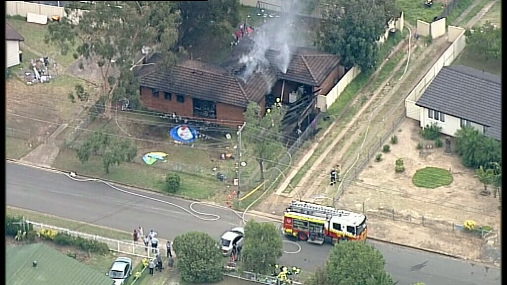 Firefighters were called to the Willmot blaze. (9NEWS)