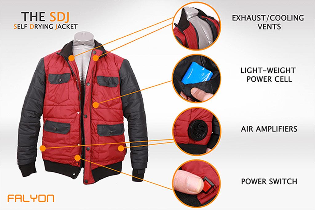 The jacket boasts several futuristic features. (Kickstarter)
