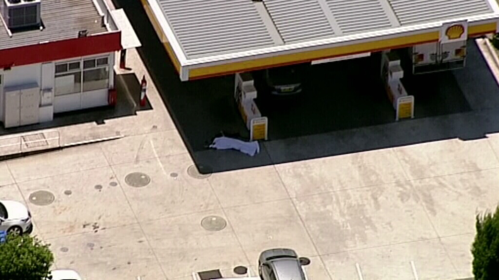 The man was shot at a Picton petrol station. (9NEWS)