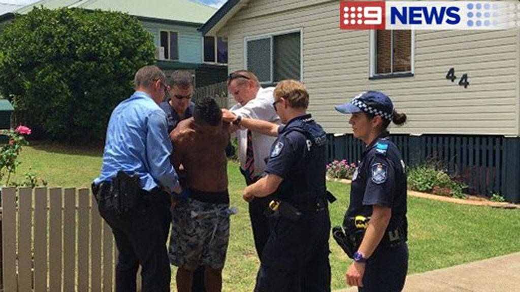 Man arrested after gunshot fired and police car hit by stolen vehicle in Toowoomba, Queensland