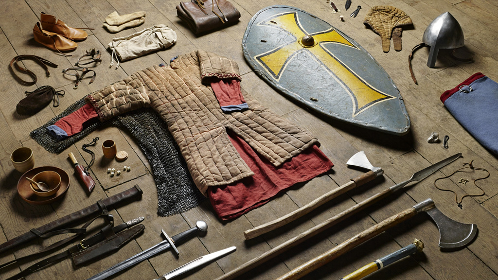 "Photographer <a href=""http://thomatkinson.com/"">Thom Atkinson</a> has documented the battle equipment of British soldiers between 1066 and today in his series titled Soldiers' Inventories.<br /><br />In 1066, a Huscarl – a Saxon household warrior – would have worn a mail coat and wielded a battle axe.<br />"
