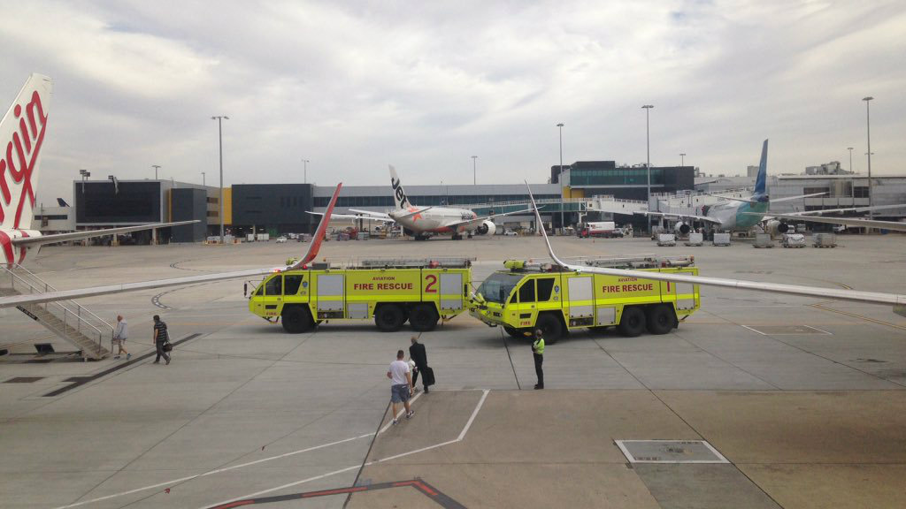 Passengers removed from flight after plane begins leaking fuel on tarmac at Melbourne Airport